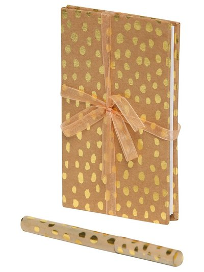 Animal print notebook and pen set