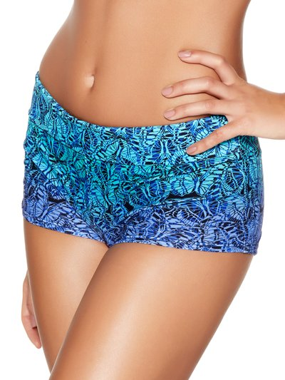 Butterfly print ombre swim shorts