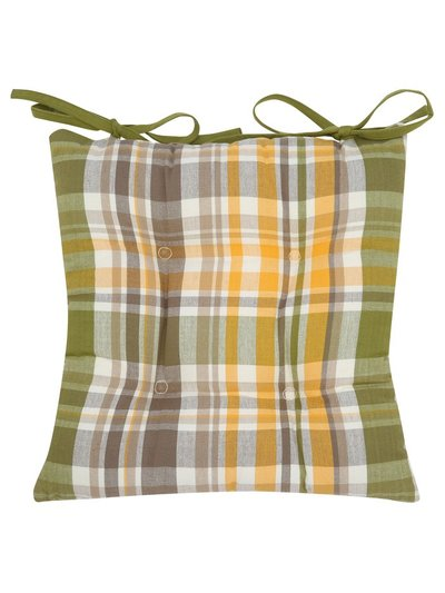 Autumn check seat pad