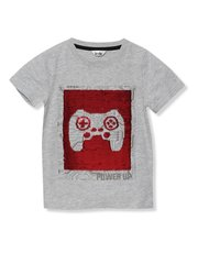 Two way sequin gaming t-shirt (3-13yrs)