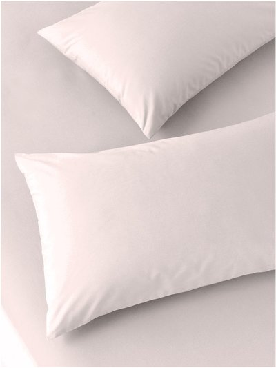 Pure cotton dusty pink pillowcases two pack