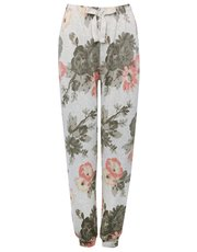Floral loungewear trousers