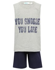 You snooze you lose slogan pyjamas