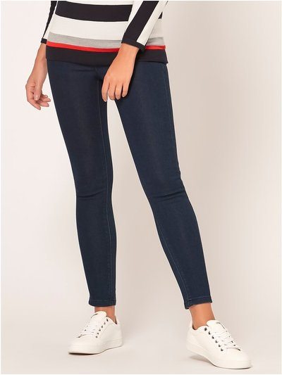 Petite denim jeggings