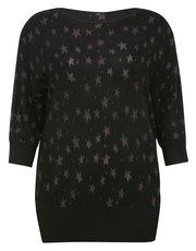 Plus glitter star jumper