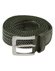 Khaki woven stretch belt