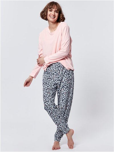 Fleece animal print pyjama set