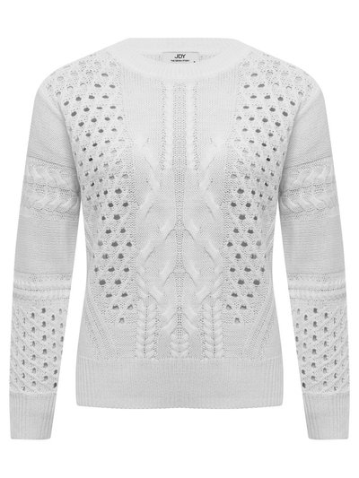 JDY cable knit pointelle jumper