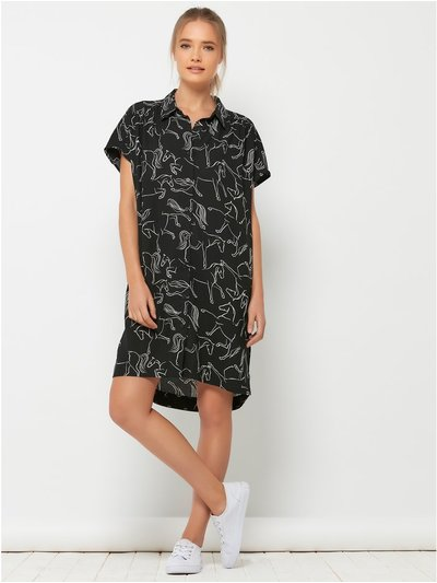 Sonder Studio horse print shirt dress