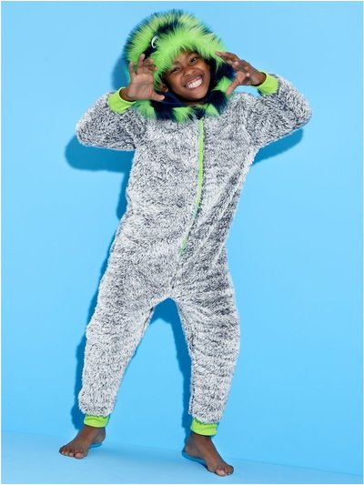 Yeti fleece onesie (4-12yrs)
