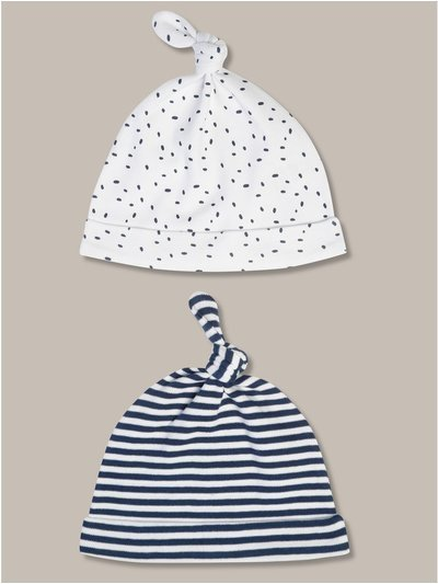 Patterned hats two pack (newborn-24mths)