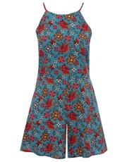 Paisley print high neck playsuit