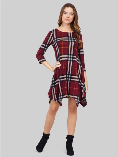 Izabel checked hanky hem dress
