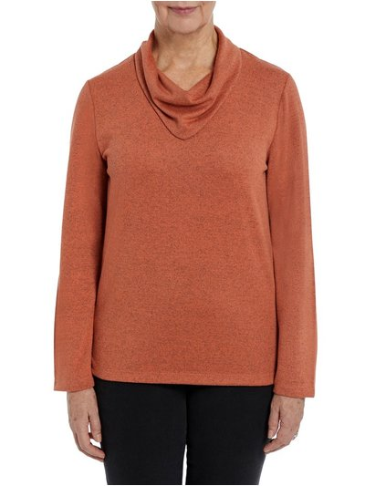 TIGI orange cowl neck top