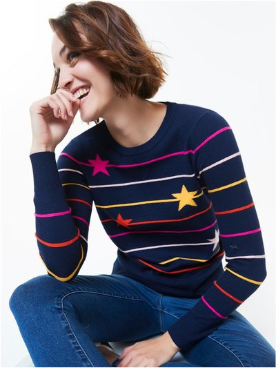 Star striped jumper