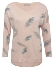 LV Clothing feather print top