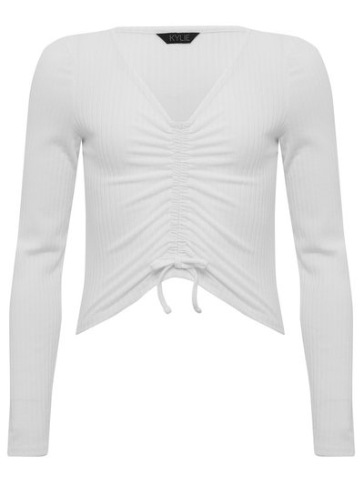 Teen ruched front top