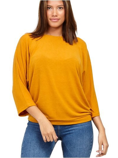 Izabel oversized button detail top