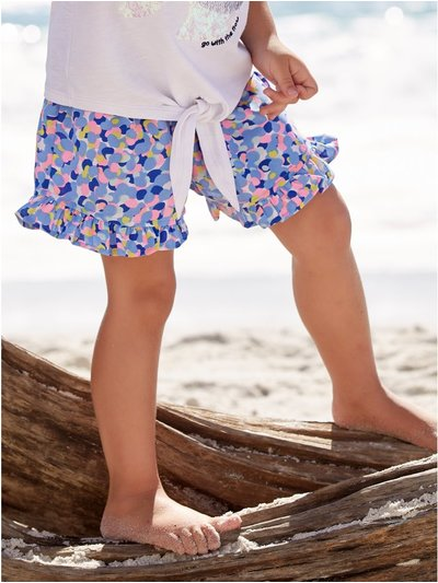 Frill hem mermaid shorts (3-12yrs)