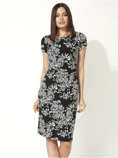 Roman Originals oriental floral textured dress