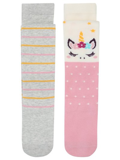 Unicorn tights two pack (1-6yrs)