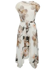 Floral hanky hem dress