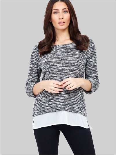 Izabel casual knitted layered top