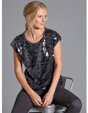 Sonder Studio sequin knit top