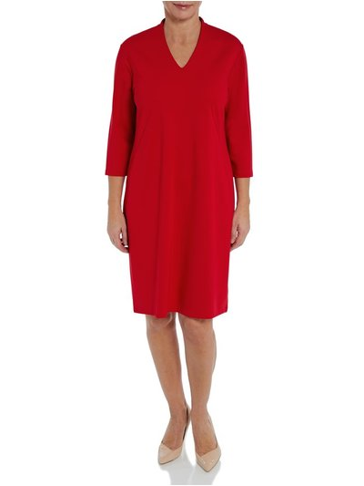 Penny Plain red v-neck dress