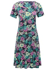 Floral print pocket day dress