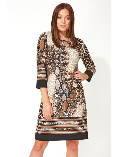 Roman Originals animal border print shift dress