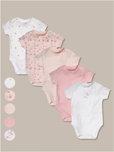 Floral bodysuits five pack (tiny baby-18mths)
