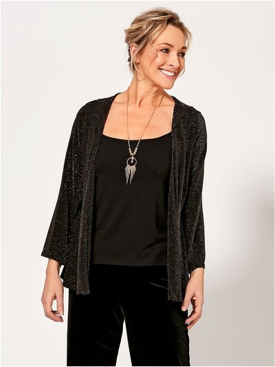 Spirit glitter jacket vest and necklace set