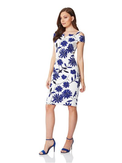 Roman Originals cold shoulder floral scuba dress