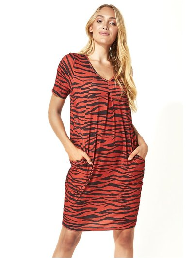 Roman Originals zebra animal print shift dress