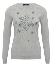 Sequin snowflake Christmas jumper