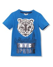 Tiger two way sequin t-shirt