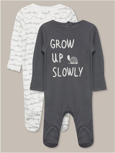 Grow up slowly sleepsuits two pack (tinybaby-18mths)