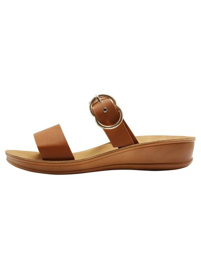 Shylie two band sandal with buckle