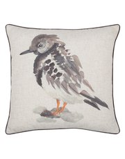 Watercolour bird print cushion