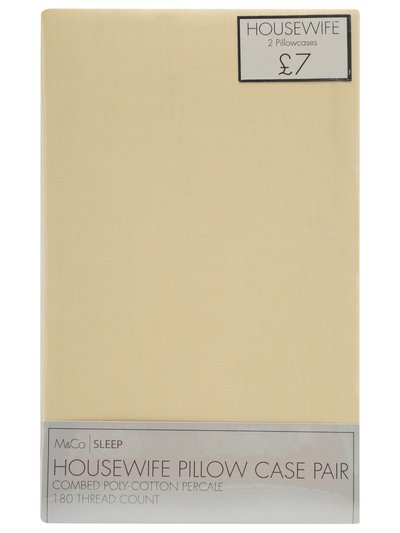 Plain dye pillowcase two pack