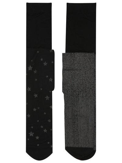 Lurex glitter tights two pack
