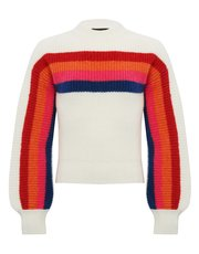 Teens' rainbow stripe jumper