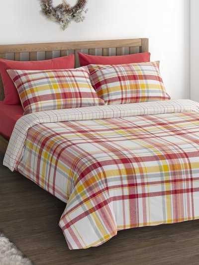 Brushed cotton autumn check duvet set