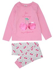Two way sequin cherry pyjamas (4 - 12 yrs)