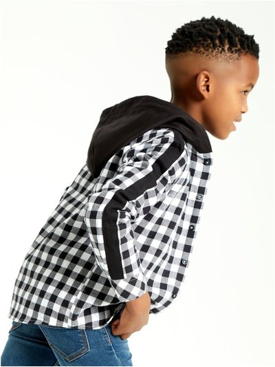 Hooded check shirt (3-12yrs)