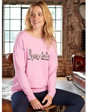 Sonder Studio embellished slogan jumper