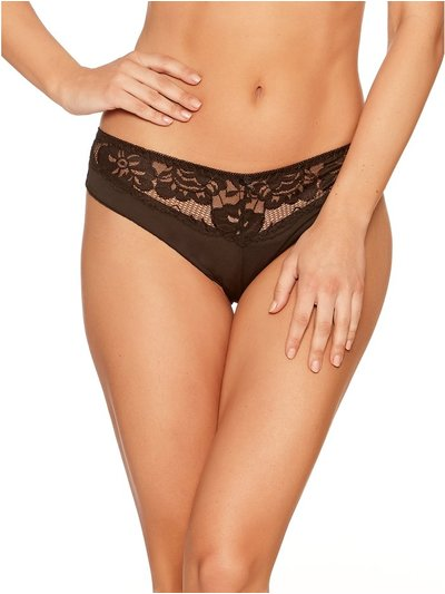 Lace trim bikini briefs two pack