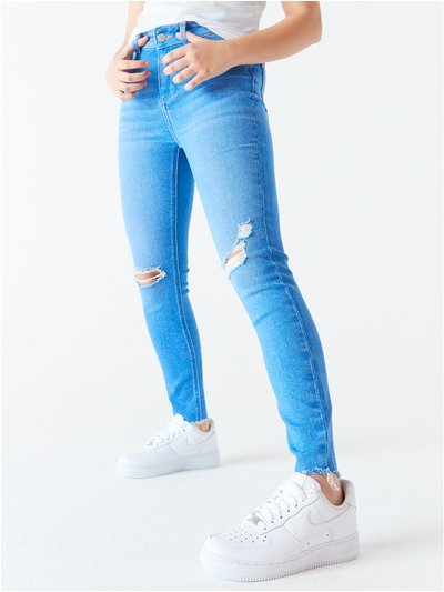Teen ripped skinny jeans