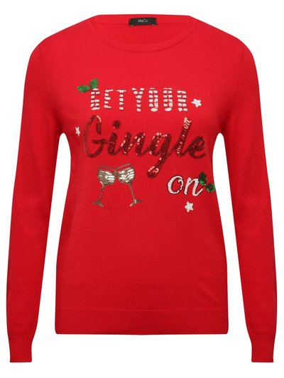 Get your gingle on sequin Christmas jumper